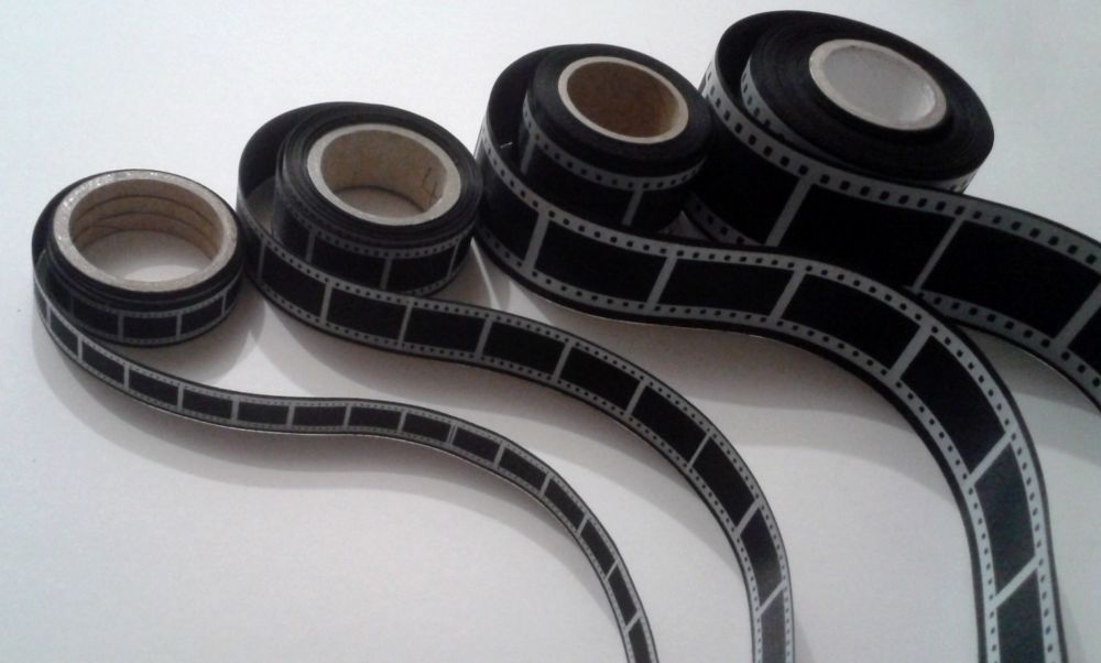 15mm Film Reel Ribbon Black
