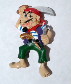 pirate fridge magnet - piraty pistol
