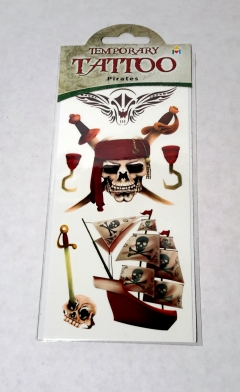 "pirate design ""temporary"" tattoos"